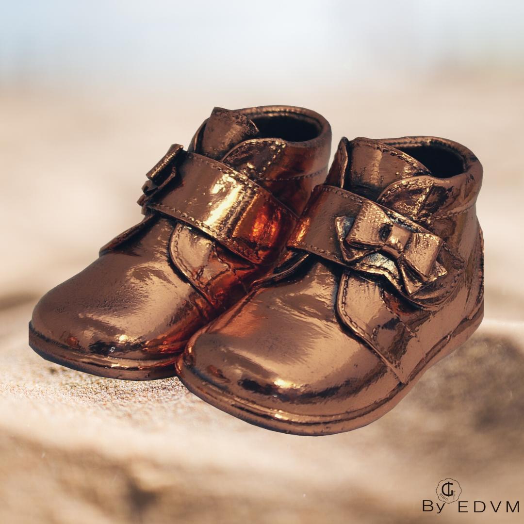 Metallic bronze shoe - Etain des Vieux
