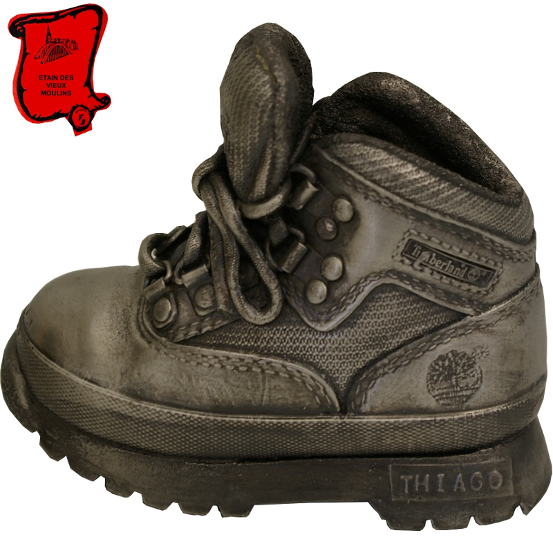 Metallic pewter shoe - Etain des Vieux